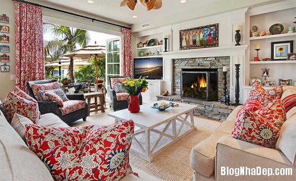 image016 1 Phòng khách rực rỡ với sắc hoa