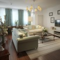 Romantic living room in the Romanesque style. 3d render.