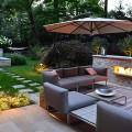 Modern Patio Furniture Modern Landscape Design Outdoor Fireplace