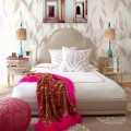 Beautiful Walpaper For Bedroom With White Bed Plus Pink Blanket Inside Amazing Carpet In Bedrooms - cukni.com