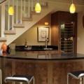 Những ý tưởng trang trí phòng khách dưới cầu thang cực độc