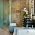 Master suite bathroom of the HGTV Dream Home 2013 located on Kiawah Island in South Carolina.